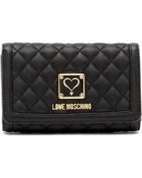 Love Moschino - Quilted Foldover Wallet - Lyst