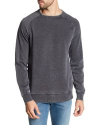 Lucky Brand - Washed Crew Neck Fleece Pullover - Lyst