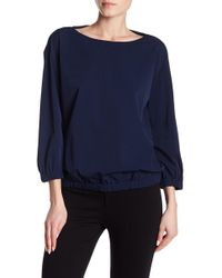 Lafayette 148 New York | Evie Long Sleeve Blouse | Lyst