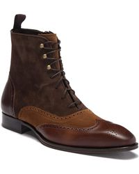 Mezlan - Tall Suede Leather Boot - Lyst