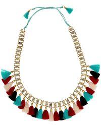 Jardin - Multi Silk Tassel Slide Necklace - Lyst
