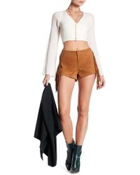 Lamarque - Willa Suede Leather Fringe Shorts - Lyst