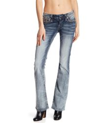 Rock Revival - Rhinestone Accented Bootcut Jeans - Lyst