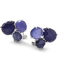 Ippolita - Rock Candy Sterling Silver Prong Set Mixed Stone Cluster Stud Earrings - Lyst