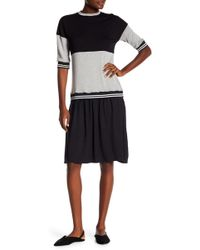 Go Couture - Modest Varsity Dress - Lyst
