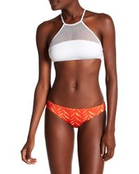 Dolce Vita - High Neck Adjustable Strap Bikini Top - Lyst
