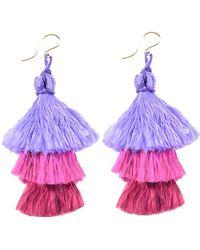 Moon & Lola - Pattaya Layered Tassel Drop Earrings - Lyst