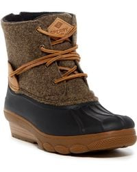 Sperry Top-Sider - Saltwater Wedge Tide Wool Blend Boot - Lyst