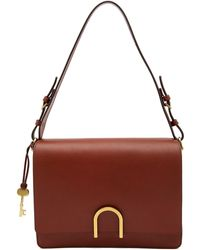 Fossil - Finley Leather Shoulder Bag - Lyst