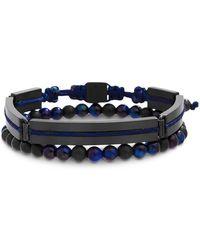 Ben Sherman - Beaded Double-row Bracelet - Lyst
