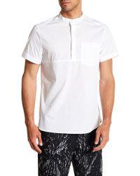 Kenneth Cole - Popover Short Sleeve Regular Fit Shirt - Lyst