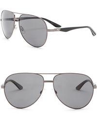 PUMA - 62mm Aviator Sunglasses - Lyst