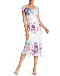 Komarov - Flutter Sleeve Dress - Lyst