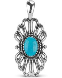 Relios - Sterling Silver Turquoise Filigree Charm Pendant - Lyst