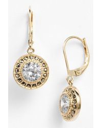 Judith Jack - Gold Plated Sterling Silver Marcasite & Cz Drop Earrings - Lyst