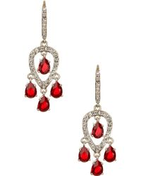 Judith Jack - Sterling Silver Siam & Swarovski Crystal Embellished Chandelier Earrings - Lyst