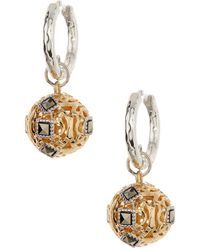 Judith Jack - Sterling Silver Crystal Elegance Round Charm Earrings - Lyst