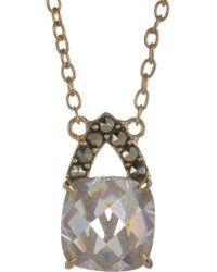 Judith Jack - 10k Gold Plated Sterling Silver Swarovski Marcasite & Cz Pendant Necklace - Lyst