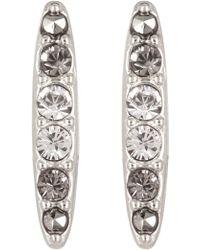 Judith Jack - Sterling Silver Crystal Swarovski Marcasite Pave Bar Stud Earrings - Lyst
