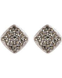 Judith Jack - Sterling Silver Pave Swarovski Marcasite Stud Earrings - Lyst