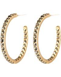 Judith Jack - 10k Gold Plated Swarovski Marcasite Hoop Earrings - Lyst