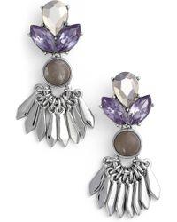 Kent & King - Crystal Drop Earrings - Lyst