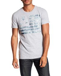 William Rast - Washed Flag Graphic Tee - Lyst