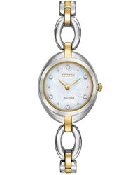 Citizen - Women's Eco-drive Silhouette Crystal Two-tone Stainless Bracelet Watch - Lyst