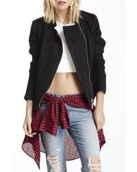 Kensie - Perforated Zip Front Scuba Jacket - Lyst