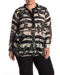 Vince Camuto - Tropical Print Tunic Blouse (plus Size) - Lyst