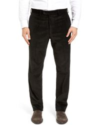 JB Britches - Flat Front Stretch Corduroy Trousers - Lyst