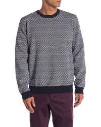Barque - Crosshatch Knit Sweater - Lyst