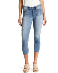 Nicole Miller - Union Embellished Skinny Jeans - Lyst