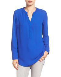 Sandra Ingrish - Split Neck Shirttail Tunic - Lyst