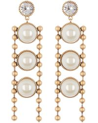 Marc By Marc Jacobs - Ball Chain Imitation Pearl Earrings - Lyst
