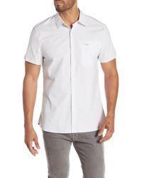 Kenneth Cole - Short Sleeve Regular Fit Shirt - Lyst