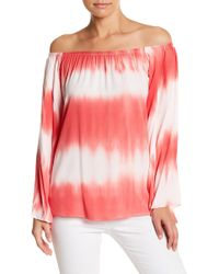 Vava By Joy Han - Eliya Off-the-shoulder Tie-dye Shirt - Lyst