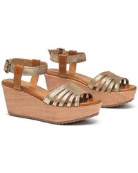 Trask - Helen Leather Platform Sandal - Lyst