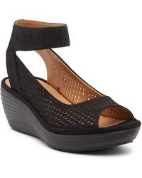 Clarks | Reedly Salene Wedge Sandal - Wide Width Available | Lyst