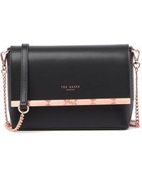 Ted Baker - Melisaa Bow Embossed Leather Crossbody Bag - Lyst