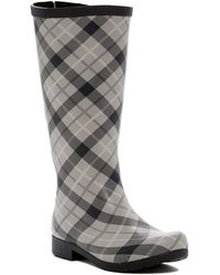 Chooka - Flex Fit Elastic Plaid Tall Waterproof Rain Boot - Wide Calf Fit - Lyst