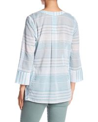NYDJ - Regatta Stripe Split Neck Tunic - Lyst