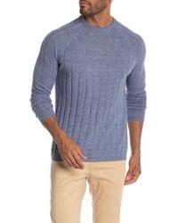 Autumn Cashmere - Ribbed Crew Raglan Sweater - Lyst