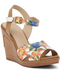 Johnston & Murphy - Maren Cross Band Wedge Sandal - Lyst