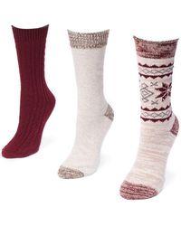 Muk Luks - Boot Socks - Pack Of 3 - Lyst