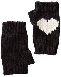 BCBGMAXAZRIA - Heart Fingerless Knit Gloves - Lyst