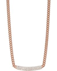 Swarovski | Vio Crystal Bar Pendant Necklace | Lyst