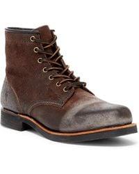 Frye - Arkansas Suede Genuine Shearling Lined Boot - Lyst