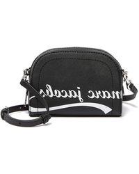 03d743ee32 Marc Jacobs Metallic Zoom Leather Crossbody Bag in Metallic - Lyst