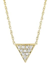 KC Designs - 14k White Gold Diamond Triangle Necklace - 0.10 Ctw - Lyst